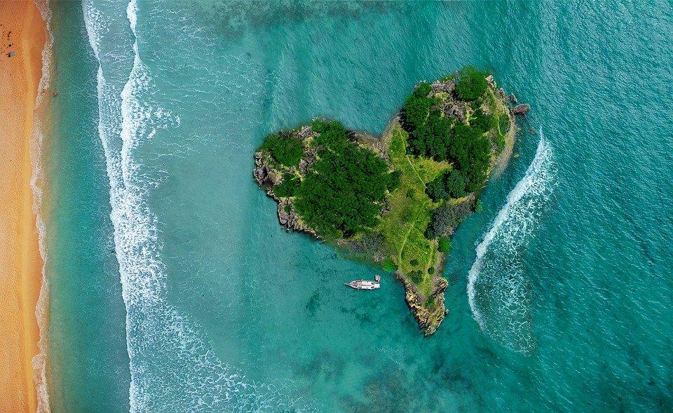 Grøn hjerte-ø